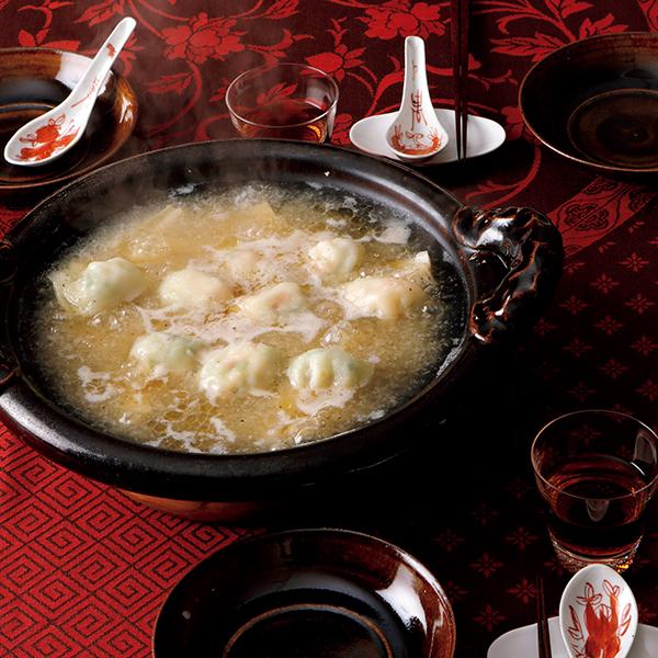 プリプリえびとれんこんの食感が楽しい! エビ餃子鍋【絶品鍋レシピ28days】_1_1