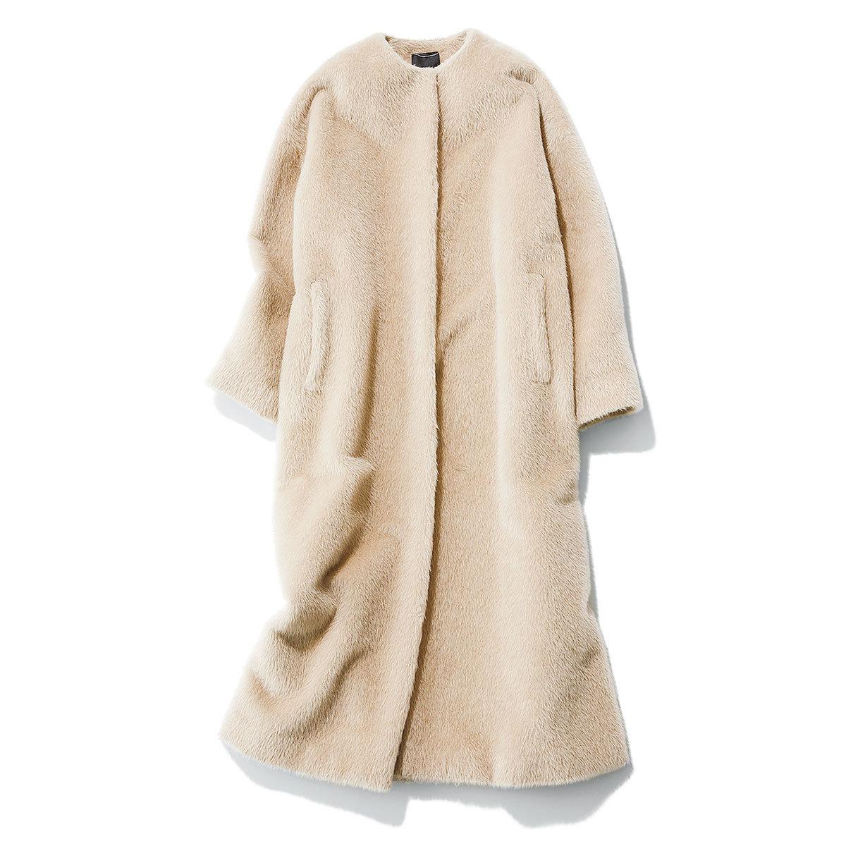 エブールのシャギー素材コート