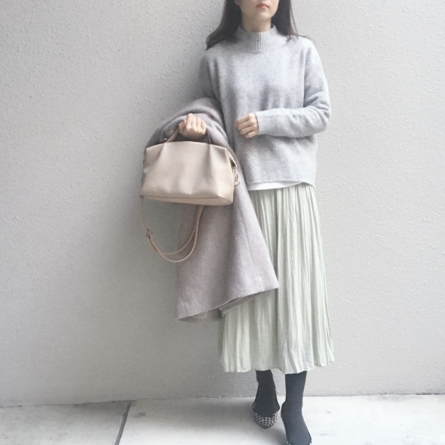 清潔感があって、しかも映える #ミントグリーン のスカート_1_1