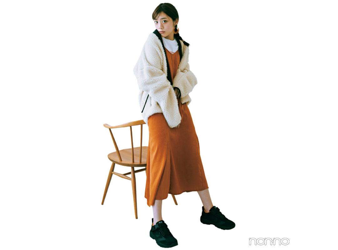 今季人気のボアには、オレンジのアイラインがマスト♡【今日着る服×旬色メイクであか抜ける!③】_1_4