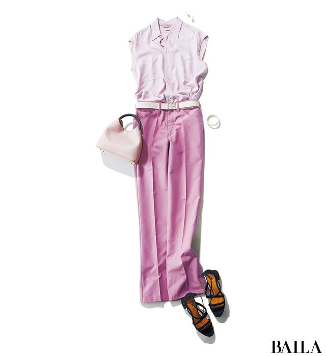 大好きなピンクはスモーキーな発色を選ぶと◎