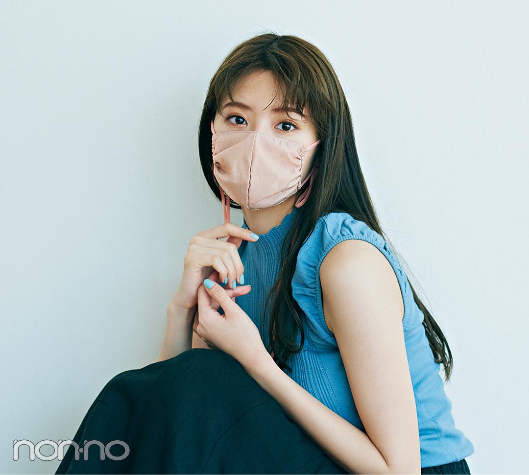 鈴木ゆうかの大人フェミニンなマスクコーデ11