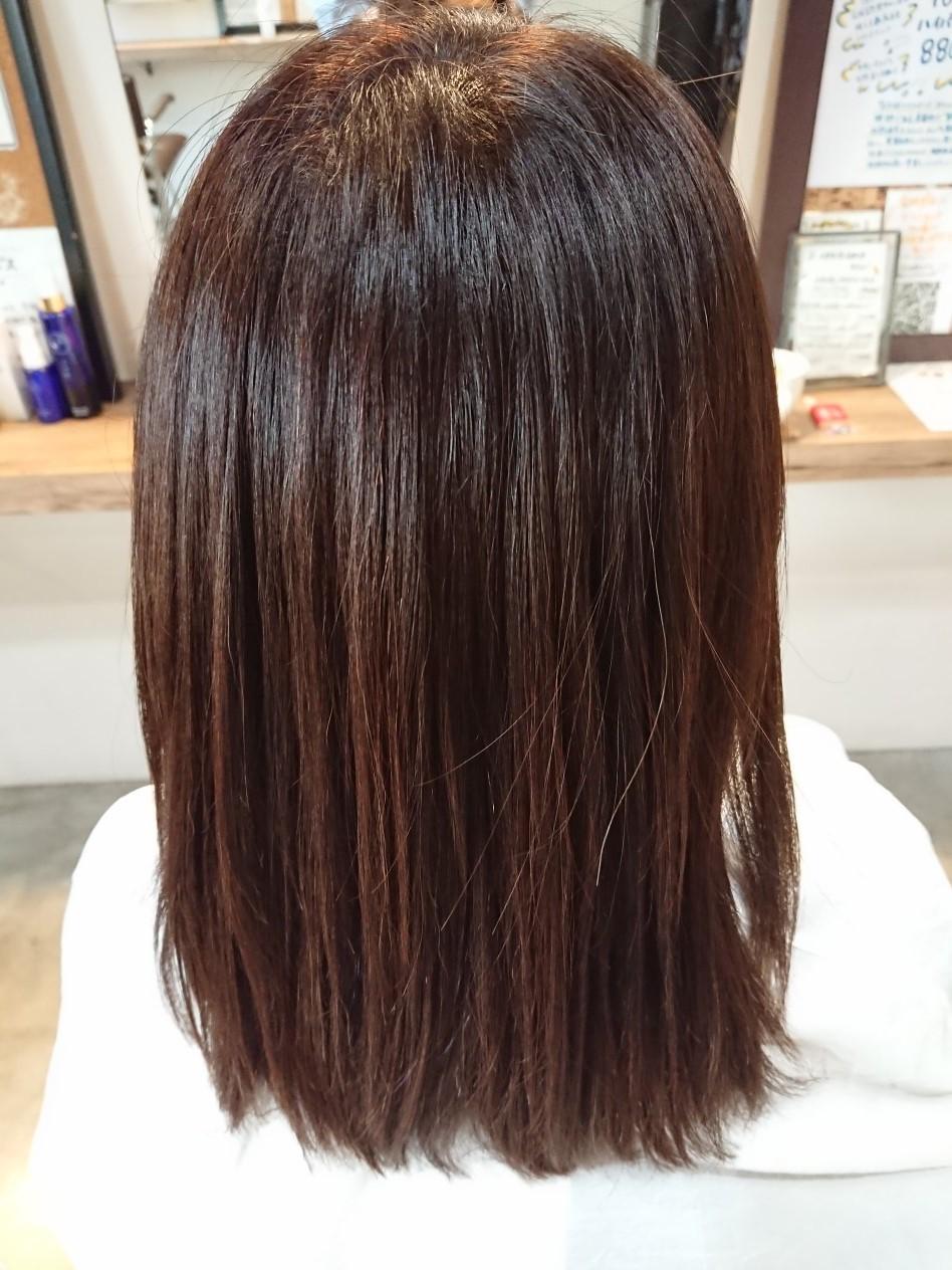 髪質強度の回復率驚異の160~180%の出来栄えがこちら