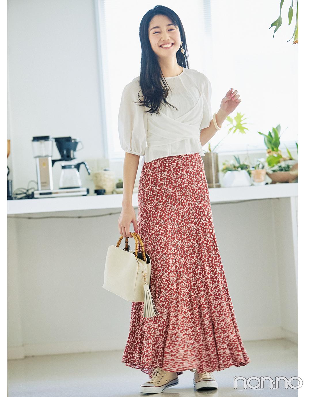 2月~3月の体感寒い日&暖かい日、小花柄スカートはこんなに使える!_1_4