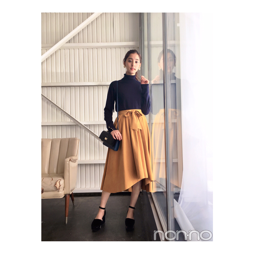 新木優子はマスタード色スカートで大人フェミニンに【毎日コーデ】_1_1