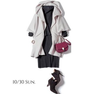 白コート&差し色バッグコーデからハンサムパンツコーデまで_1_4