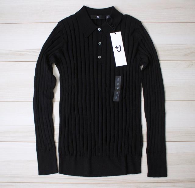 ユニクロ+Jシルクコットンニットポロシャツ(長袖)