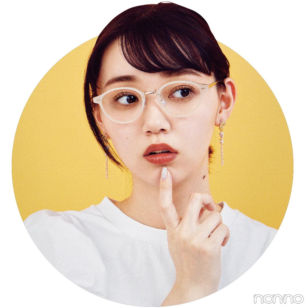0:10の斜め前髪ぺた流しヘアアレンジの江野沢愛美