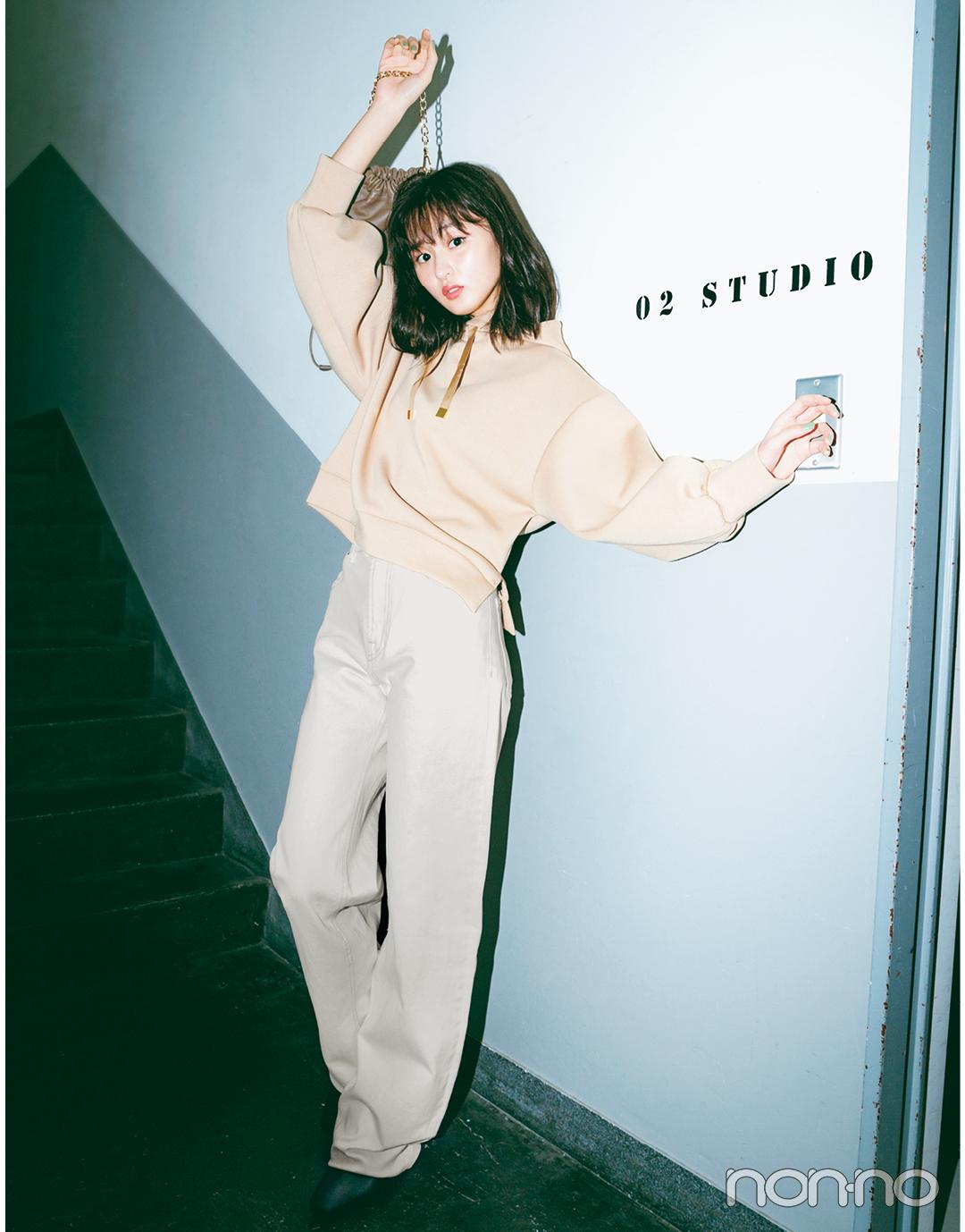 三女・遠藤さくらは「ハイウエストストレート」で今っぽスウィートに②【坂道3姉妹のデニム】_1_5