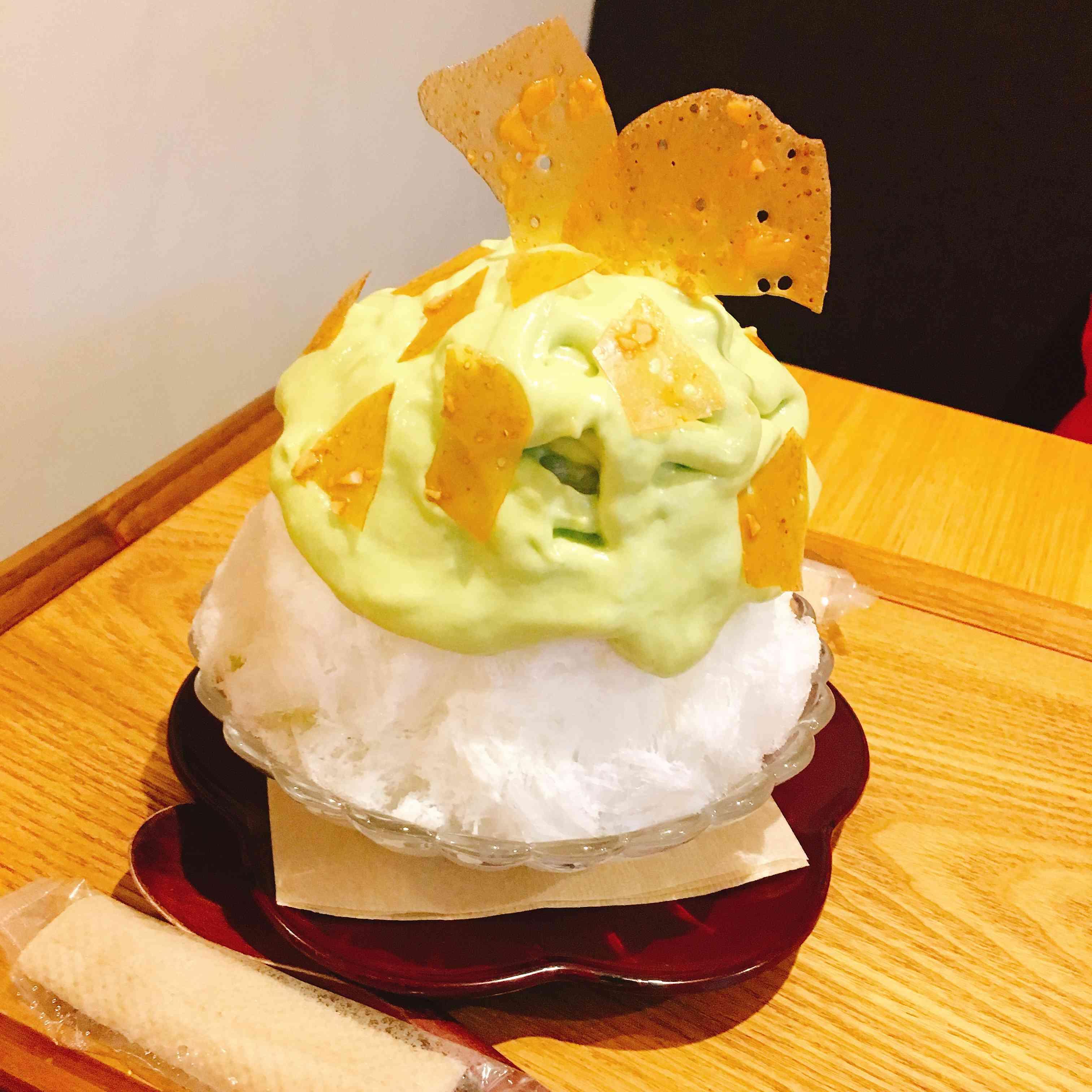 「麻布十番野菜菓子@麻布十番」アボカドのかき氷