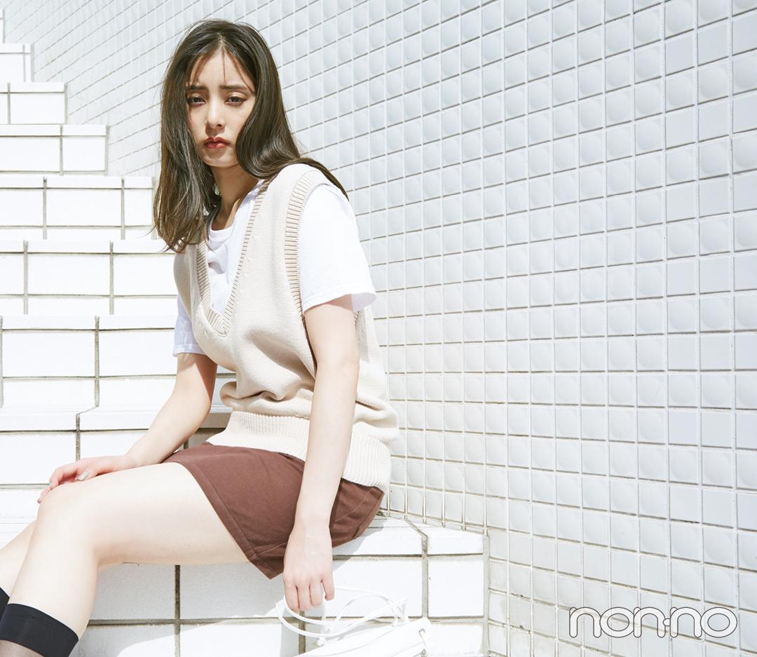 白Tシャツをトレンド顔にコーデ★ 新鮮アイディア4選!_1_4-3