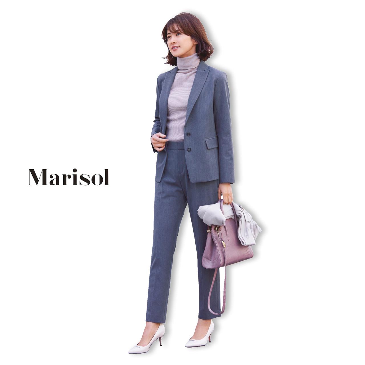 40代ファッション セットアップパンツコーデ