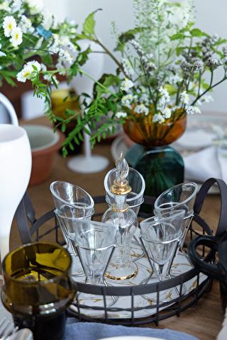 小さなグラス器もテーブルコーディネートでは大活躍です!