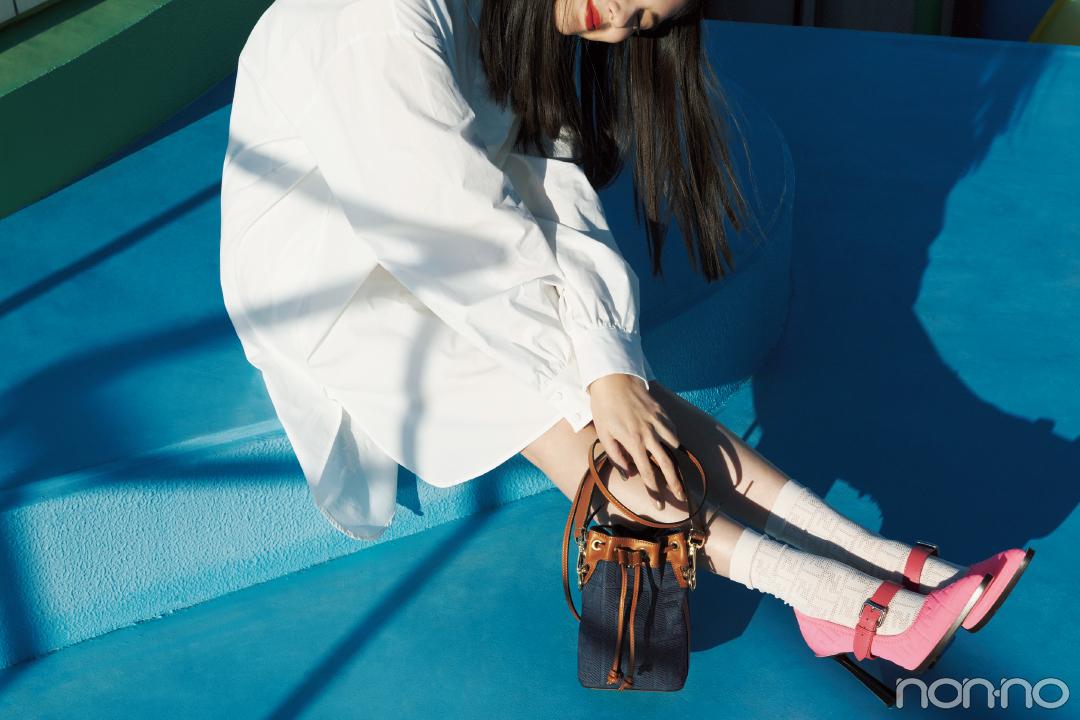 フェンディのバケツ型バッグ、春はミニサイズで♡【20歳からの名品】_1_2