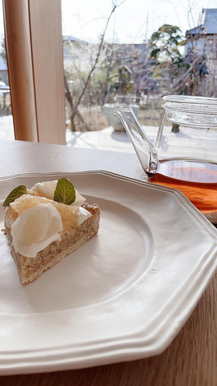 柑橘タルト 月ヶ瀬紅茶