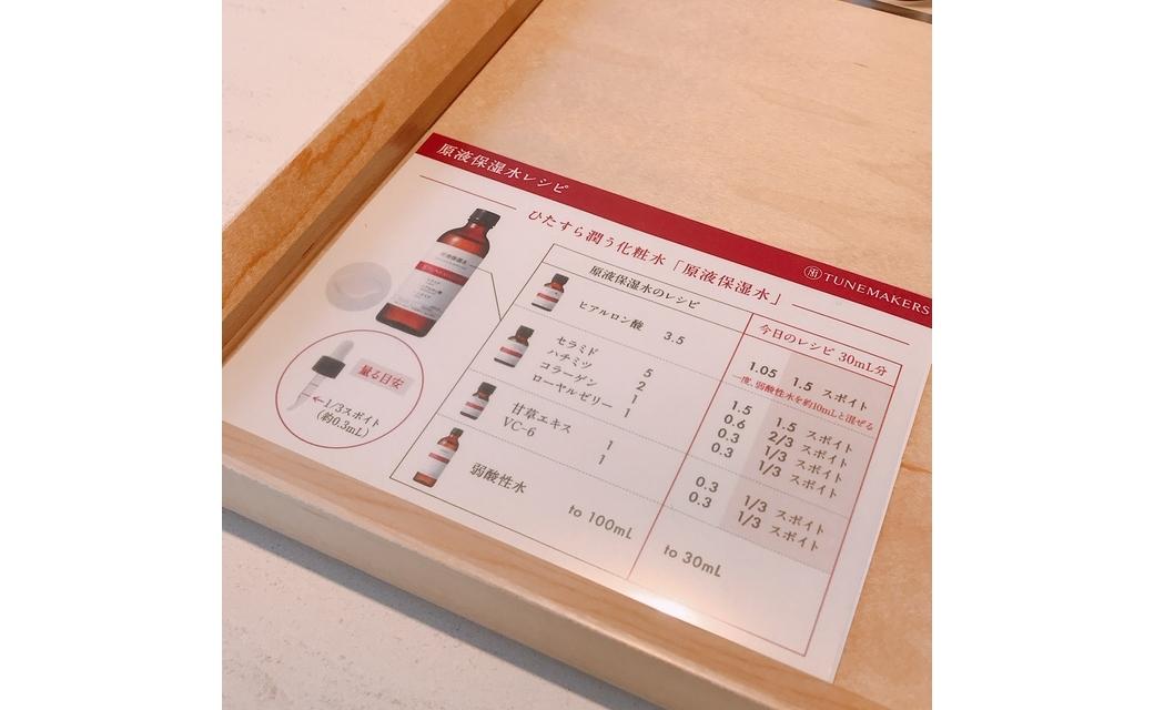 ワークショップのレシピ表