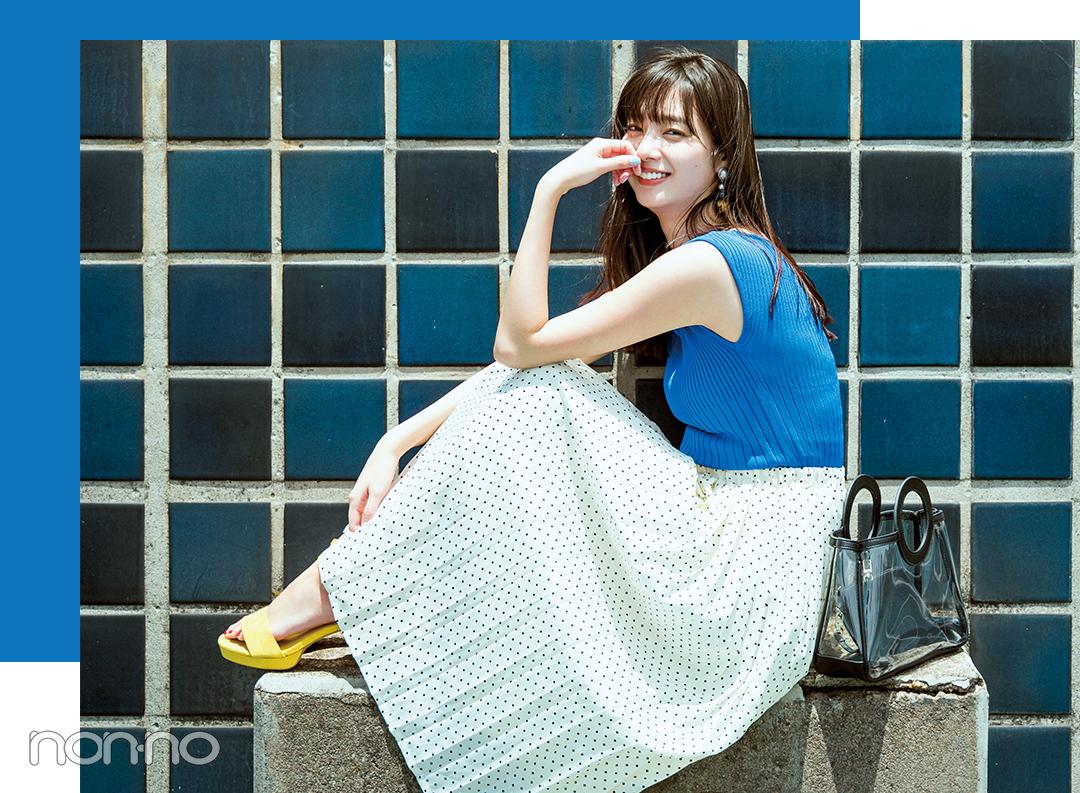 新川優愛がきれいなお姉さんすぎる♡ ブルー&ネイビーで真夏コーデ!_1_2