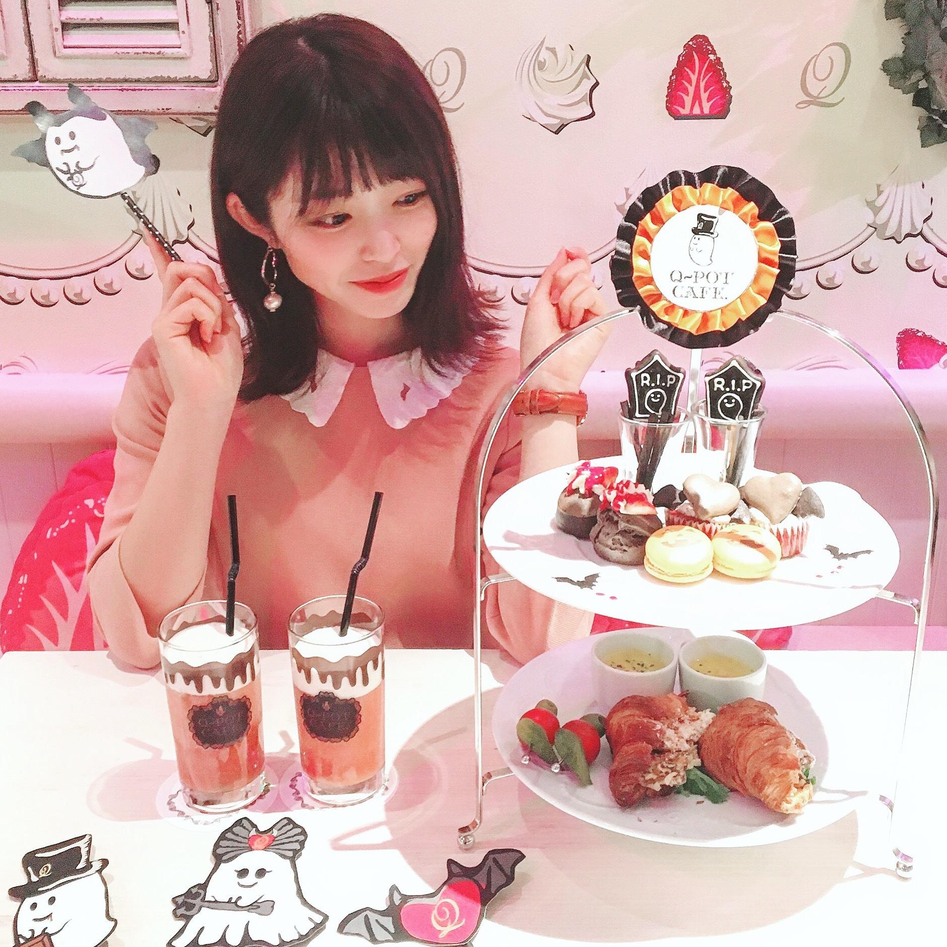【ハロウィン限定❤︎】Q-potカフェのアフタヌーンティー_1_5