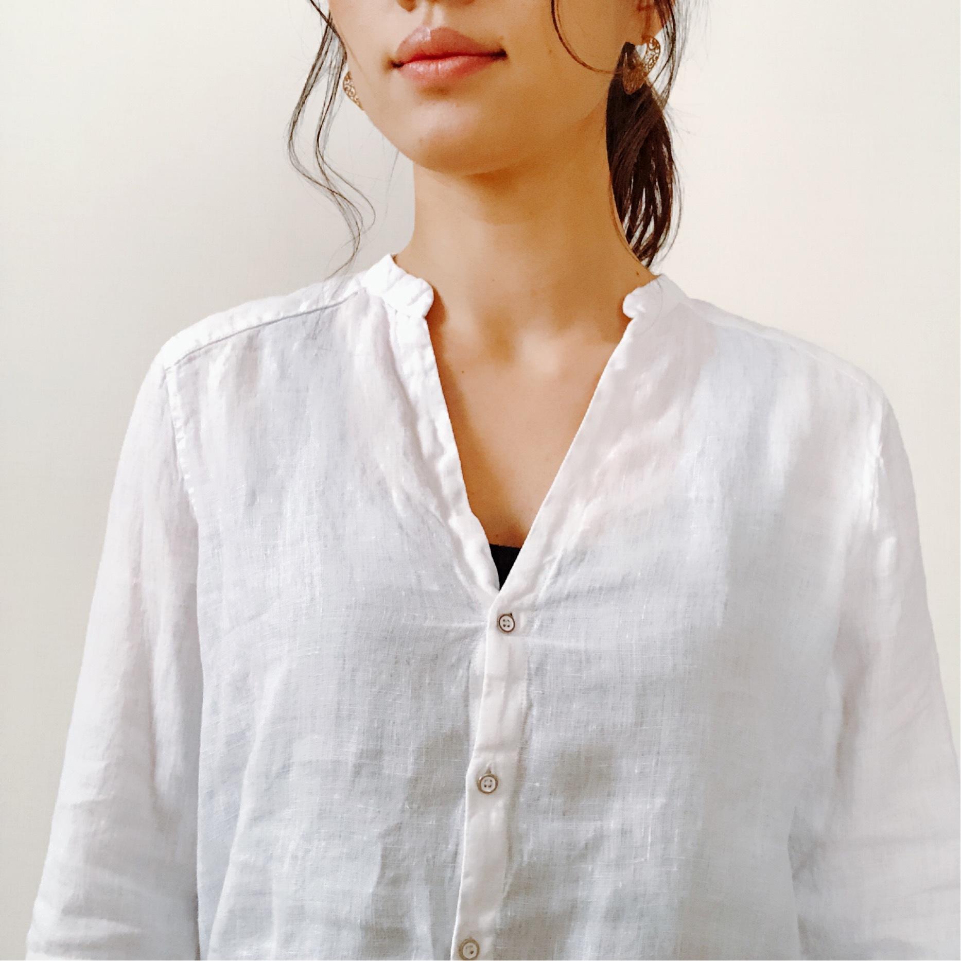 今年はZARAのリネンシャツにアップデート。_1_5