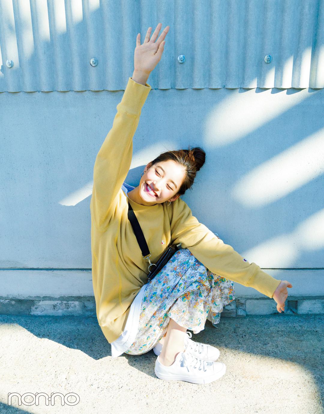 新木優子のオフの日は、ゆるーく可愛い新作スウエットで♡ 【春コーデ2019の正解】_1_2