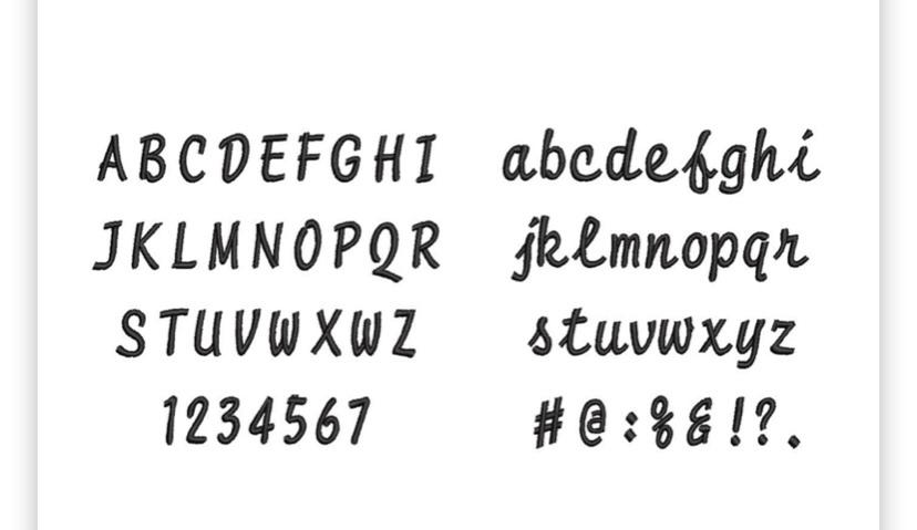 【靴下屋】刺繍でつくるオリジナル靴下は、7文字まで好きな文字を入れることができます