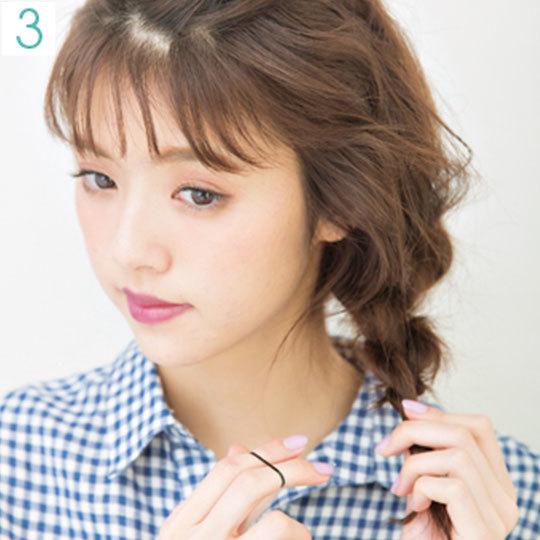 カジュアルシャツの日のヘアアレンジ♡透け前髪で今っぽ仕上げ_1_3-1