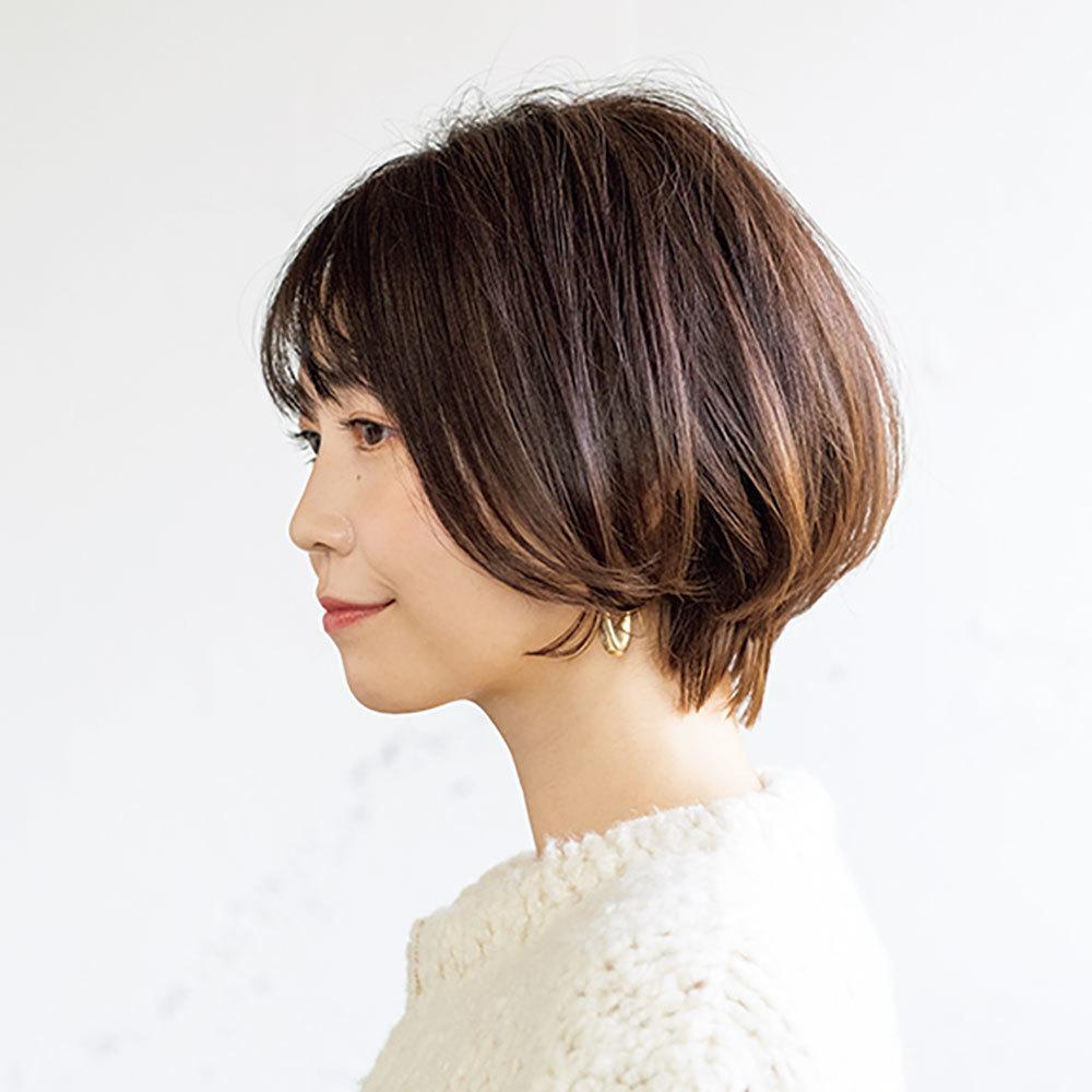 横から見た 人気ヘアスタイル1位の髪型
