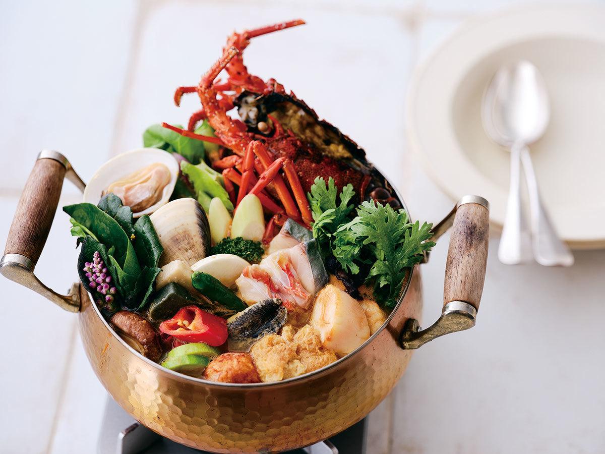 「レストラン モトイ」の ブイヤベース鍋