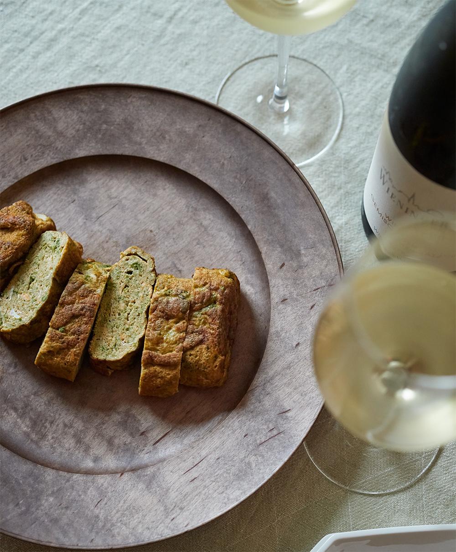 【オーストリア白ワインに合うおつまみレシピ 1】青のりたっぷりの卵焼き1