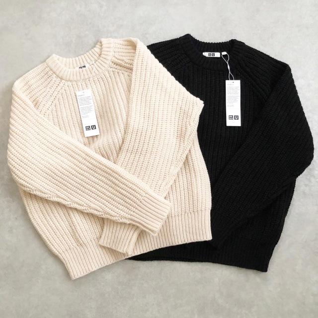 【UNIQLO U】 MEN ライトウェイトローゲージクルーネックセーター