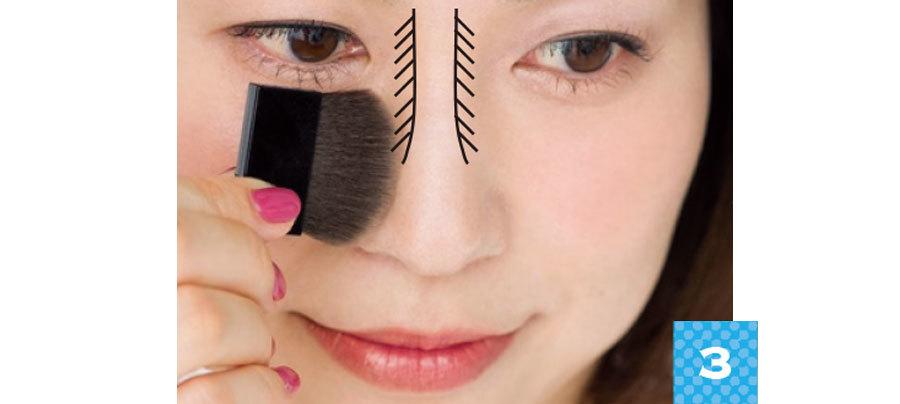 美鼻を作るカモフラメイク1_4