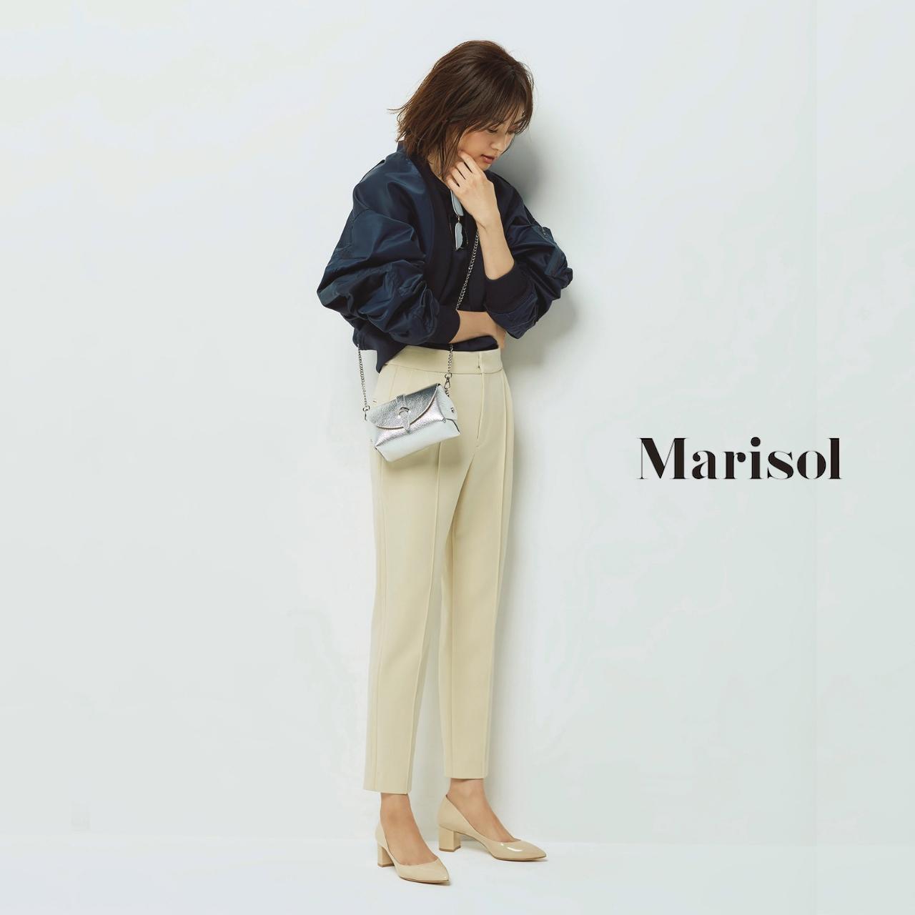 40代ファッション ミリタリージャケット×九分丈パンツコーデ