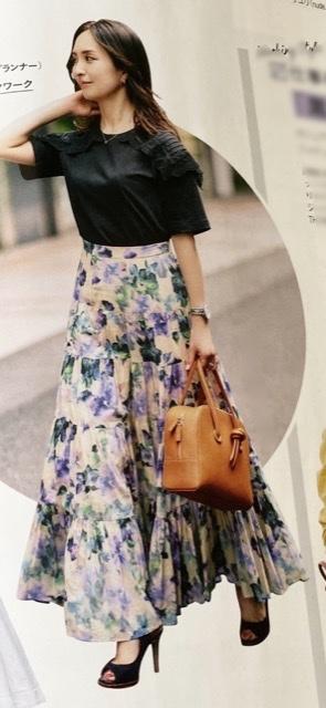 秋まで着られるボリュームたっぷりのマリハのスカート_1_3