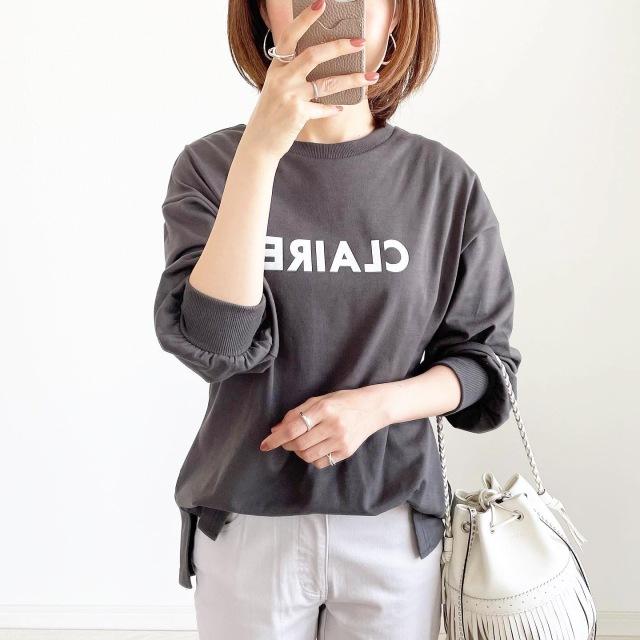 GWにまだ間に合う!長袖ロゴTシャツ【tomomiyuコーデ】_1_1