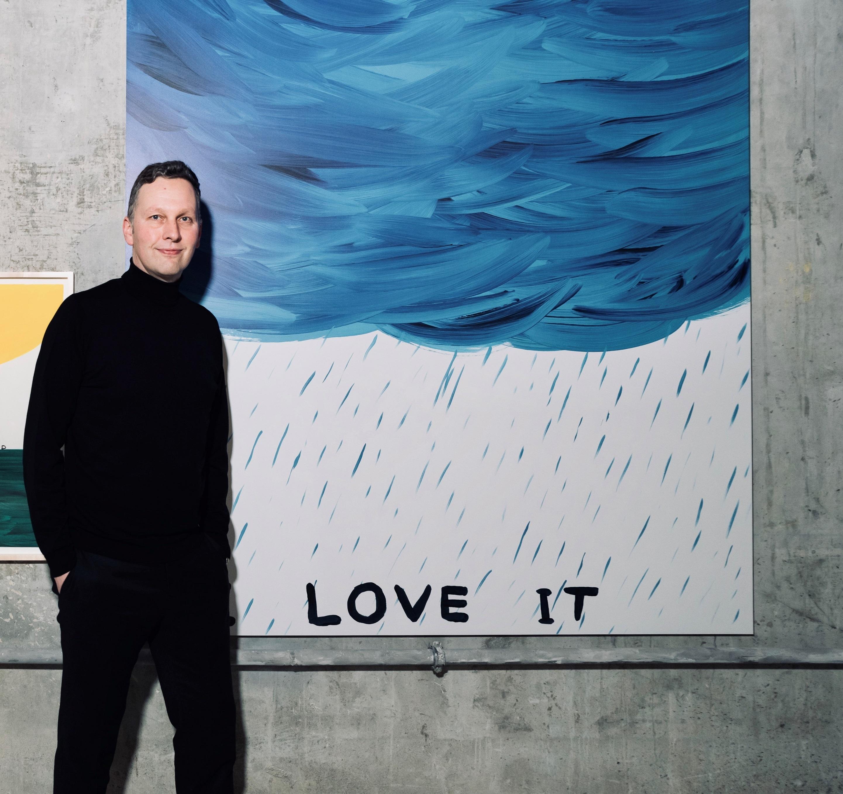 今回のコラボレーション・アーティストに選ばれた、デイヴィッド シュリグリー。英国のお国柄を反映したような、ユーモアあふれる作品が多い。© David Shrigley x Ruinart