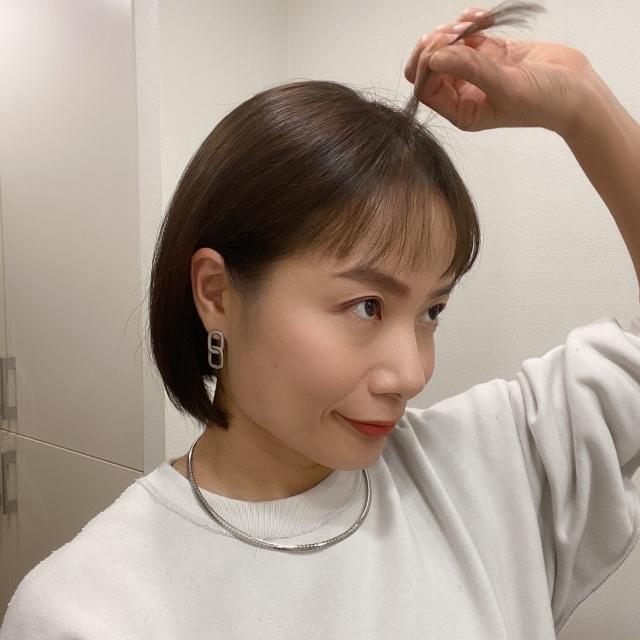 思い切って前髪カット&タッセルボブに♡_1_3-1
