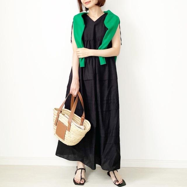 【真夏こそ映える黒コーデ】重たく見えず、シックに決まるアラフォーの黒コーデまとめ|40代ファッション_1_28