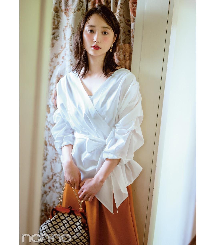 馬場ふみか&鈴木友菜の秋は、ゆるく着こなす女っぽシャツ!_1_2-1