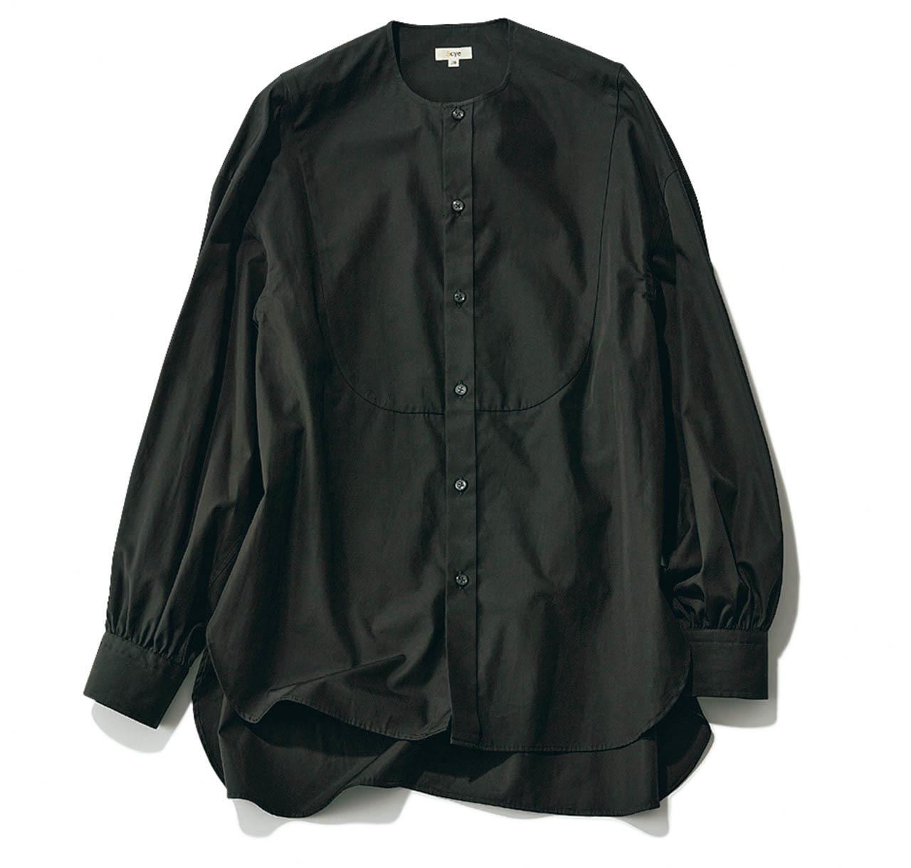 サイのバンドカラー シャツ