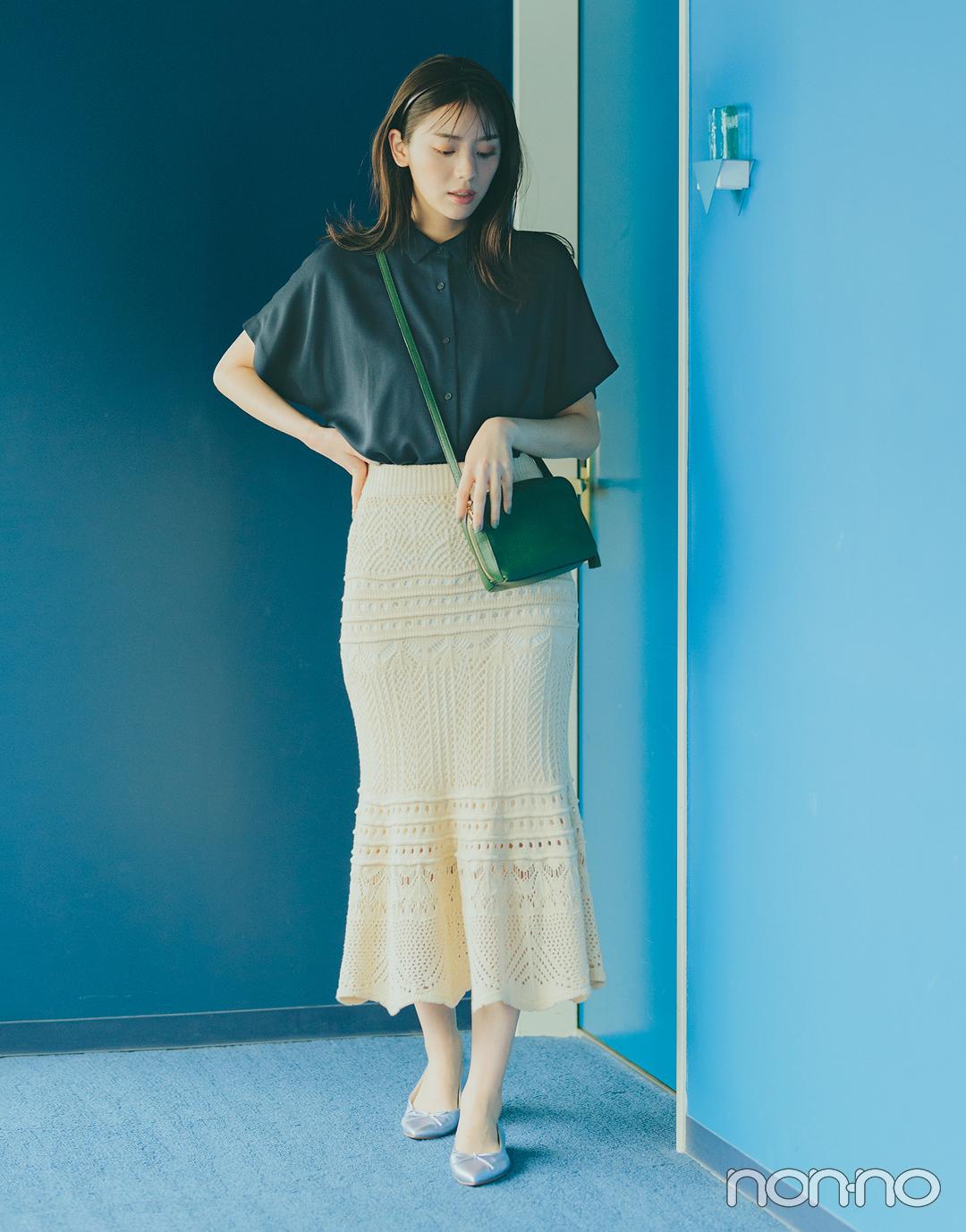 『貴島明日香』の『クロシェスカート』モデルカット4−2