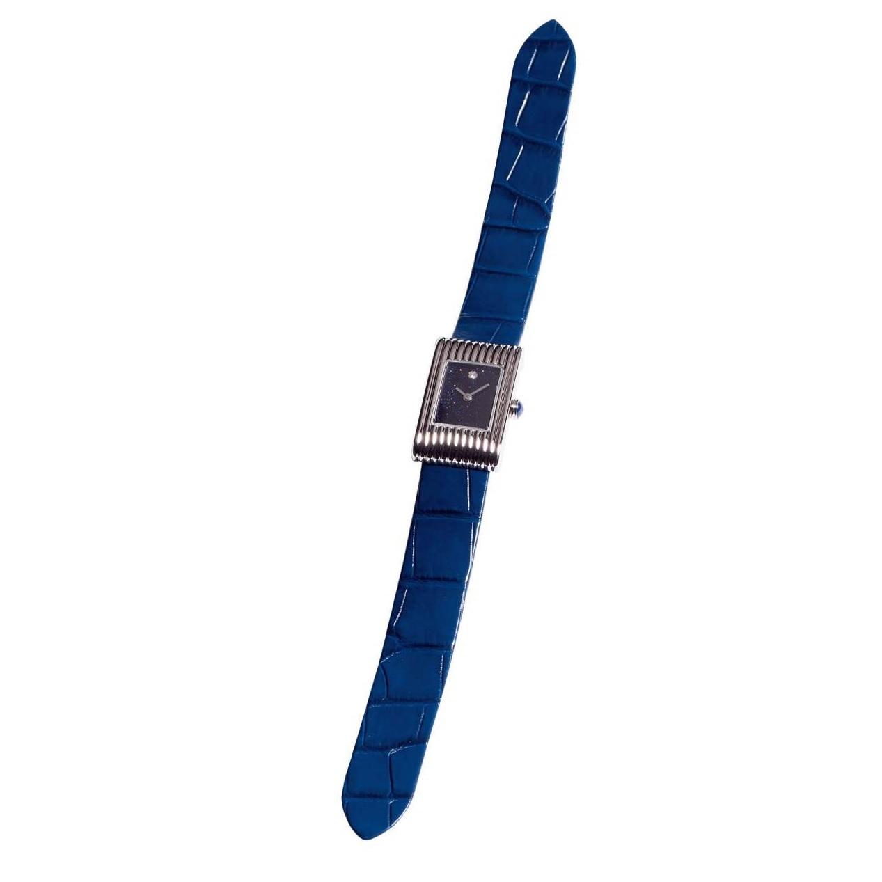 ブルーのベルトが手元に知性を演出する、ブシュロンの腕時計_1_1