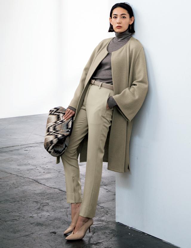 50代のしゃれ見えカラー『グレー』『ベージュ』の着こなしスタイル