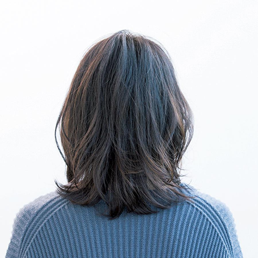 ソフトウルフ×外ハネ、短め前髪、 3トレンドを大人っぽく取り入れて【40代のミディアムヘア】_1_1-3