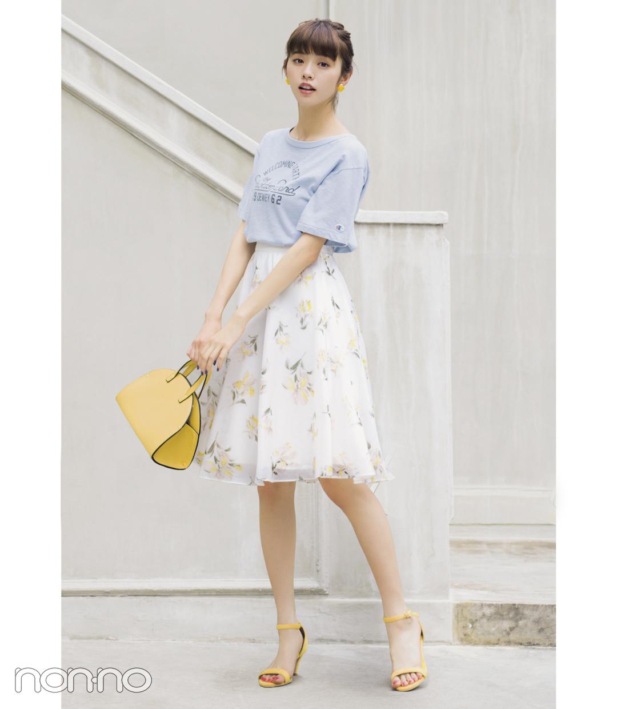 真夏の花柄スカート、モテるコーデはこれ!_1_1-2