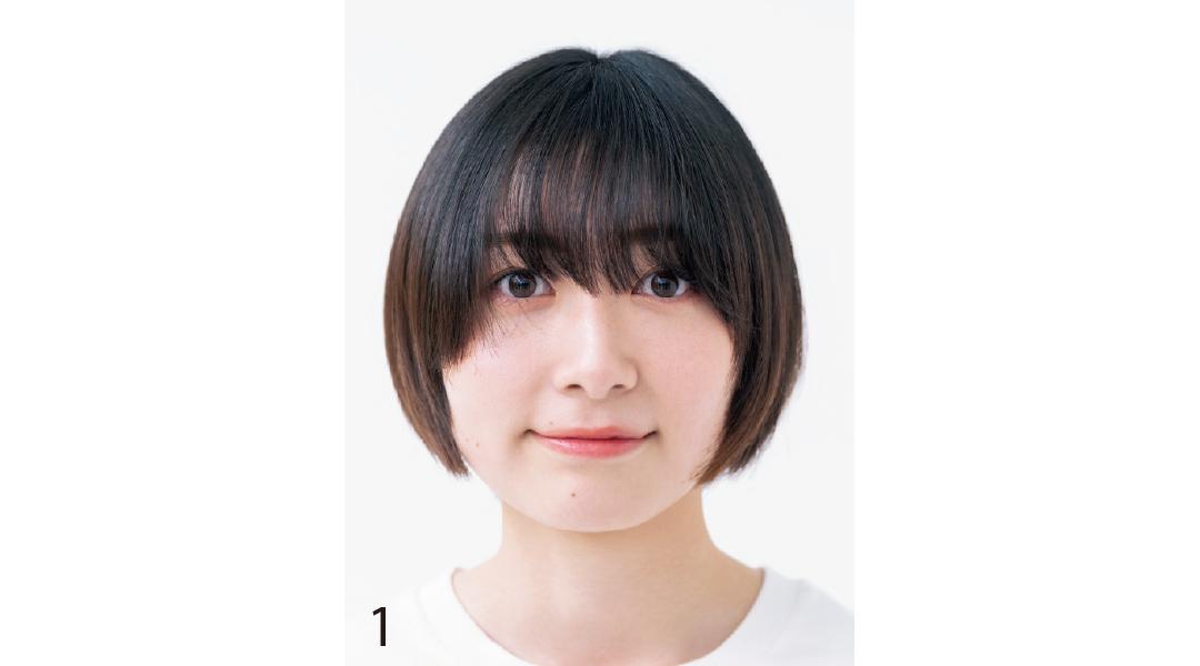 小顔を叶える基本の前髪セルフカット1