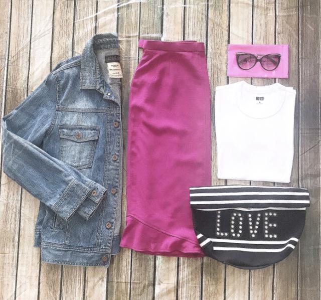 甘さとアラフォーのいい関係、今度はピンクのスカートで。_1_1