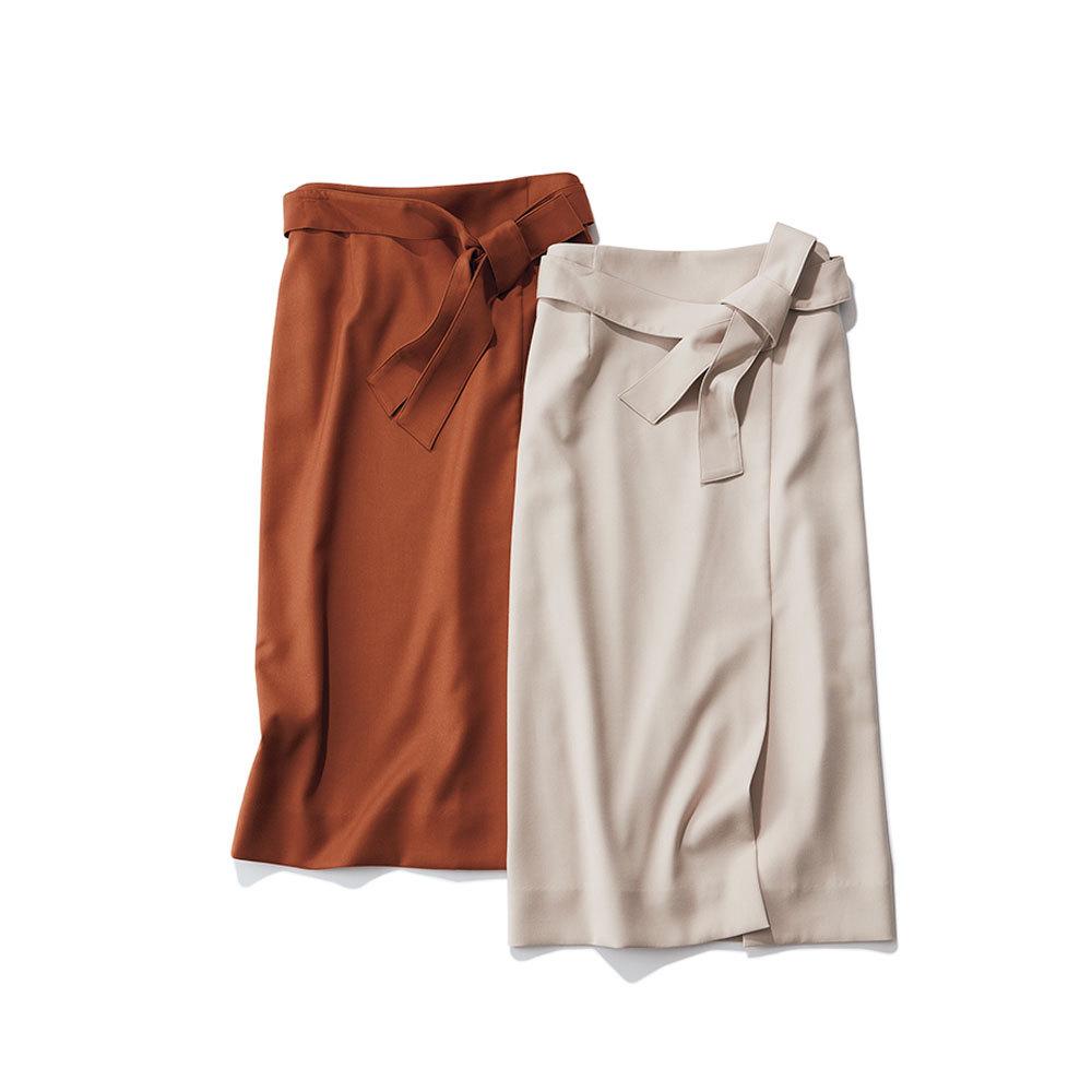 アラフォーお仕事服のエムセブンデイズのセットアップスカート