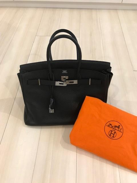 15年前に購入したバーキン35 黒 トリヨンクレマンス 当時のエルメスバッグは今と違いオレンジの布袋に入っていました