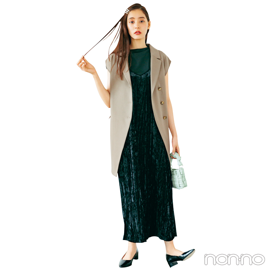 新木優子×新しいこと始まる秋服。「キャミワンピは旬度高めに着こなし」_1_5