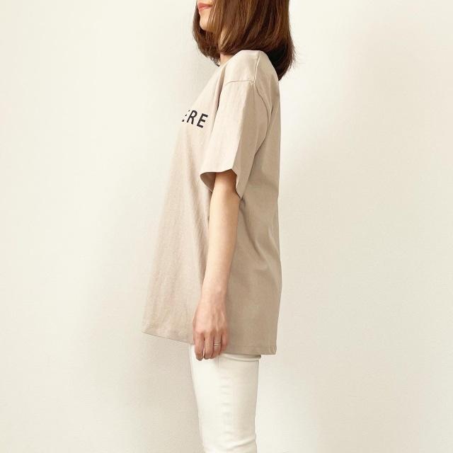 プチプラ!ニュアンスカラー『ロゴTシャツ』【tomomiyuコーデ】_1_4